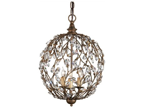 Currey & Company Currey In A Hurry Cupertino Three-Light 13'' Wide Mini Chandelier CY9652