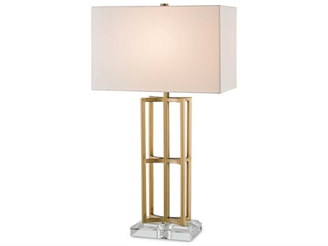 Currey & Company Currey In A Hurry Devonside Coffee Brass Table Lamp CY6801
