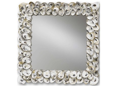 Currey & Company Currey In A Hurry Oyster Shell 20'' x 20'' Wall Mirror