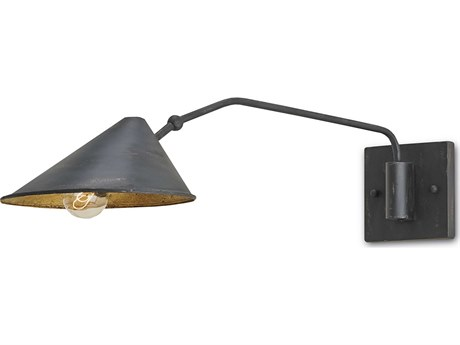 Currey & Company Currey In A Hurry Serpa French Black Wall Sconce CY5177