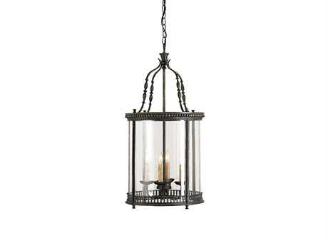 Currey & Company Grayson French Black Four-Light 16.25'' Wide Mini-Chandelier CY9046