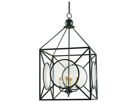 Currey & Company Beckmore Old Iron Four-Light 20'' Wide Mini-Chandelier CY9748