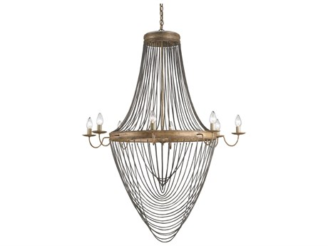 Currey & Company Lucien French Gold Eight-Light 46'' Wide Grand Chandelier CY9412
