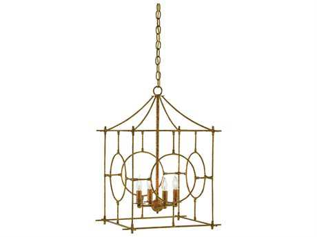 Currey & Company Lynworth Gold Four-Light 17'' Wide Mini-Chandelier CY90000013