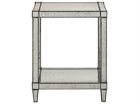 Currey & Company Monarch Painted Silver End Table CY30000014