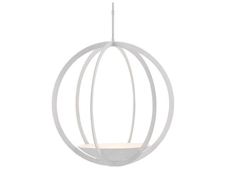 Currey and Company Moondance Matte White Three-Light 32'' Wide Pendant Light