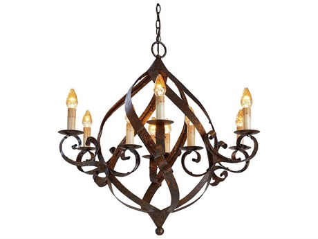 Currey & Company Gramercy Nine-Light 37'' Wide Chandelier CY9528