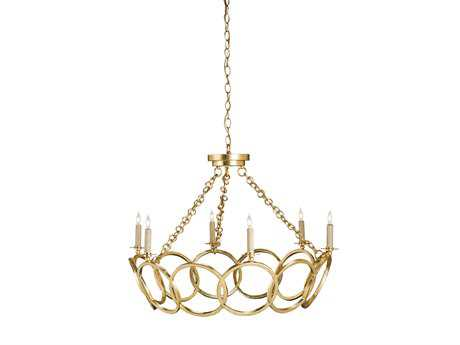 Currey & Company Orli Contemporary Gold Six-Light 32'' Wide Chandelier CY9984