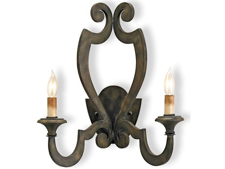 Currey & Company Currey In A Hurry Retrospect Two Light Wall Sconce CY5012