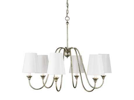 Currey & Company Orion Silver Six-Light 29'' Wide Chandelier CY9110