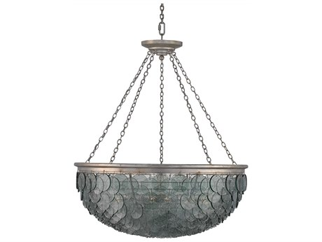 Currey & Company Quorum Silver Leaf 20-Light 50'' Wide Pendant Ceiling Light