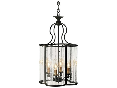 Currey & Company Rupert Old Iron Four-Light 14'' Wide Mini-Chandelier