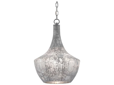 Currey & Company Segreto Antique Gray / Cloud Edison Bulb 13.75'' Wide Pendant Ceiling Light CY90000124