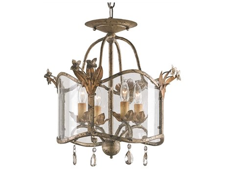 Currey & Company Zara Four-Light 15'' Wide Mini Chandelier CY9979