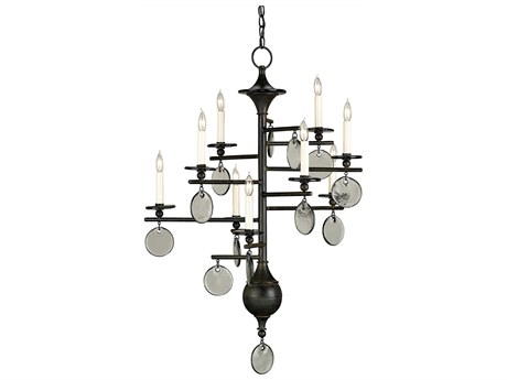 Currey & Company Sethos Old Iron Nine-Light 28'' Wide Chandelier CY9126
