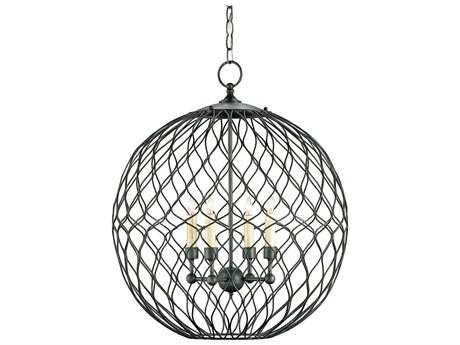 Currey & Company Simpatico Orb Four-Light 22'' Wide Mini-Chandelier CY9618