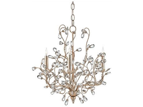 Currey & Company Silver Granello Three-Light Mini-Chandelier CY9974