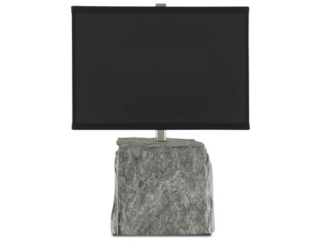 Currey & Company Natural Rock / Satin Nickel 1-light Table Lamp