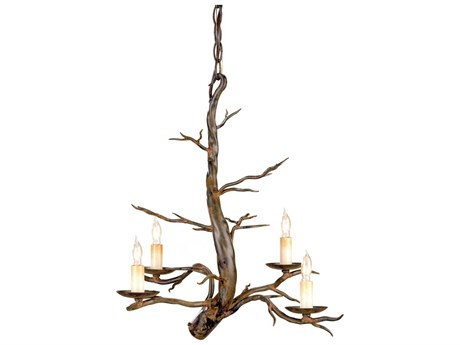 Currey & Company Treetop Four-Light 18'' Wide Mini Chandelier CY9307