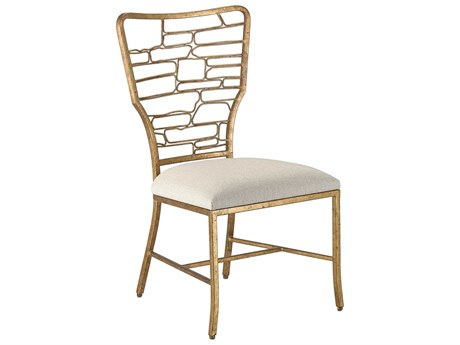 Currey & Company Vinton Guilt Bronze Sand Side Dining Chair