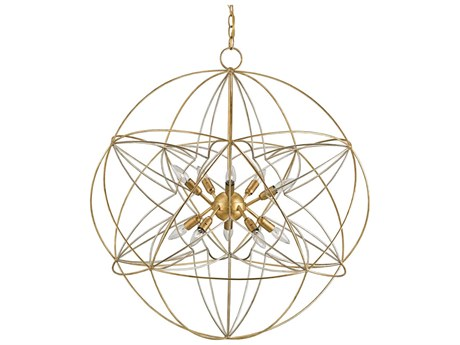 Currey & Company Zenda Orb Gold Ten-Light 34'' Wide Chandelier