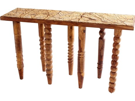 Cyan Design Oak 56''L x 17''W Rectangular Table Shape Post Up Console Table C308983