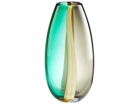 Cyan Design Green and Yellow Small Quatrieme Vase C309175