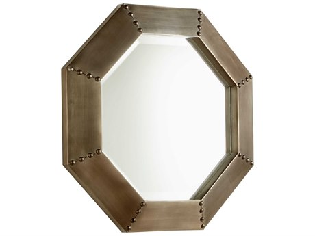 Howard Elliott Zenith 31 X 39 Silver Wall Mirror He56042