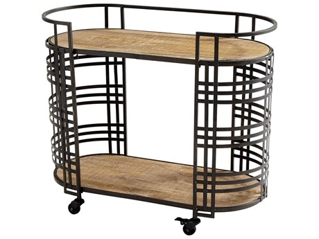 Cyan Design Bronze Banded About Bar Cart C309044