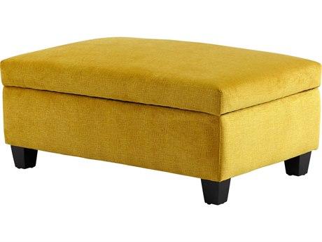 Cyan Design Aldous Yellow Ottoman C308351