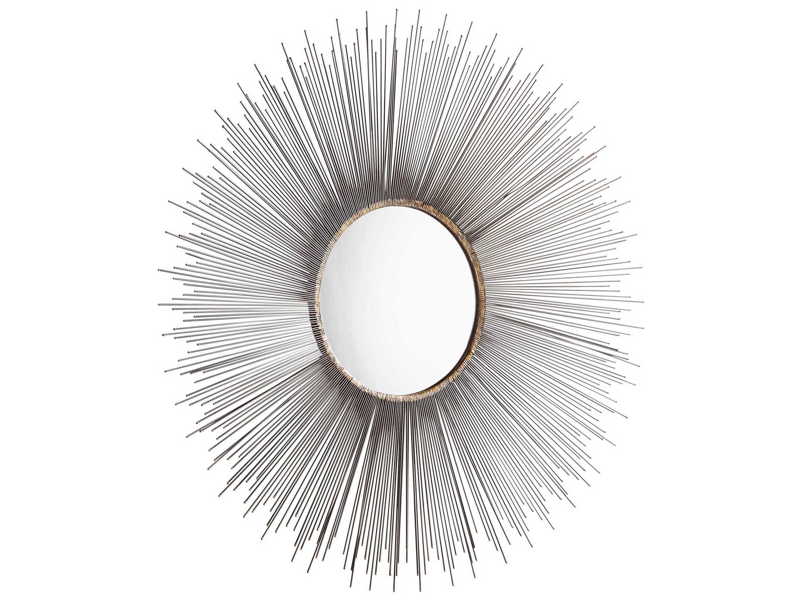 Cyan Design Aludra Zinc Antique 46 Wide Round Sunburst Wall Mirror