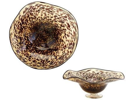 Cyan Design Sm Leopard Art Glass Bowl C304582