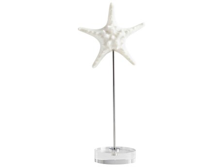 Cyan Design Asterina White and Polished Nickel Sculpture