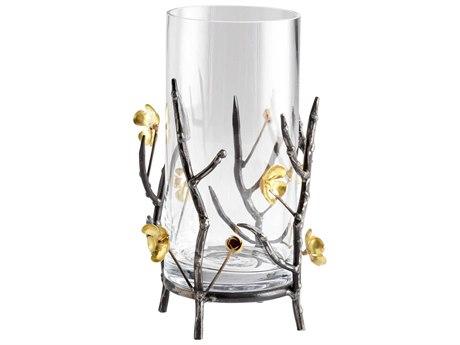Cyan Design Small Botanica Raw Steel & Gold Candle Holder C304354