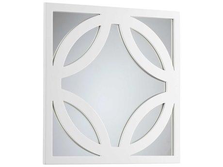 Cyan Design Brodax 24 x 24 Square White Lacquer Dresser Mirror C305730
