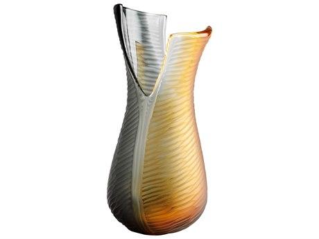 Cyan Design Candice Amber & Smoked Small Vase
