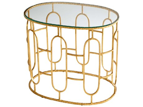 Cyan Design Carmelina Gold 24''L x 16''W Oval Drum Table C309271