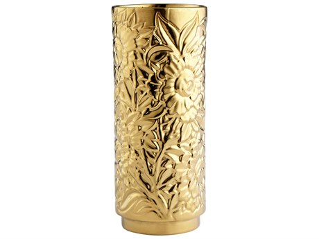 Cyan Design Carnation Gold Small Vase