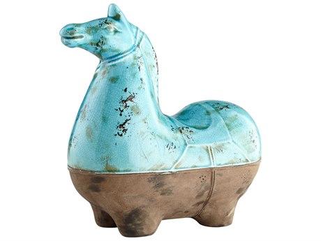 Cyan Design Cavallo Blue Glaze Large Sculpture C307393
