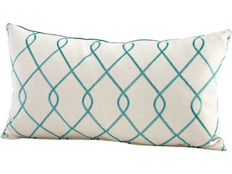 Cyan Design Turquoise & White Chain Link Pillow C306541