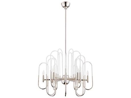 Cyan Design Champ-Elysees Polished Nickel 12-Light 16'' Wide Chandelier C309688