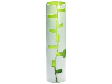 Cyan Design White & Green Danish Vase C304243