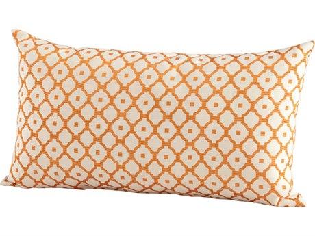 Cyan Design Orange Dot Matrix Pillow C306519