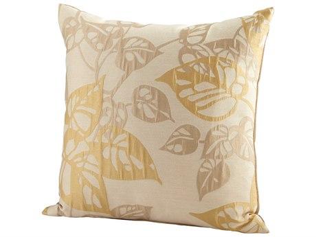 Cyan Design Gold Ecru Oak Pillow C306535