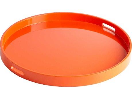 Cyan Design Orange Lacquer Serving Tray C305505