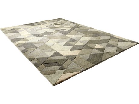 Cyan Design Facets Sage Green Rectangular Area Rug C306047