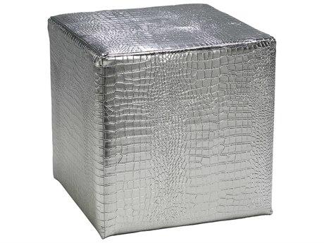 Cyan Design Faux Silver Ottoman C302753