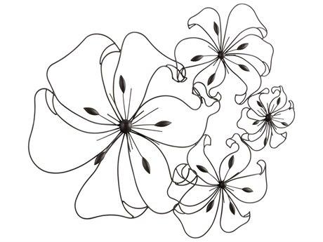 Cyan Design Graphite Fancy Flower Wall Art C305832