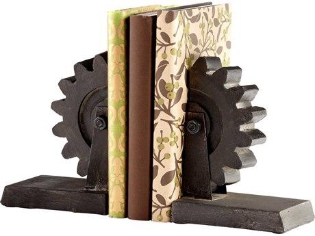 Cyan Design Raw Steel Gear Book End C305347