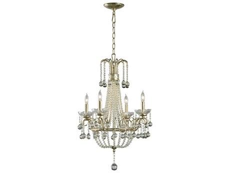 Cyan Design Genevieve Silver Leaf Four-Light 19'' Wide Chandelier C301954